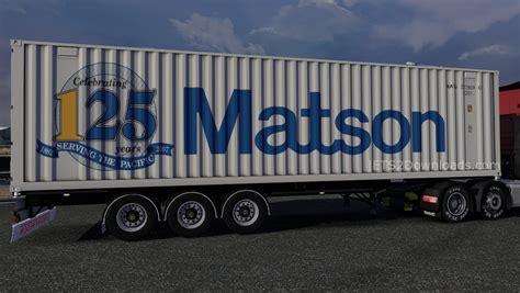matson hyundai matson container ets 2 mods ets2downloads