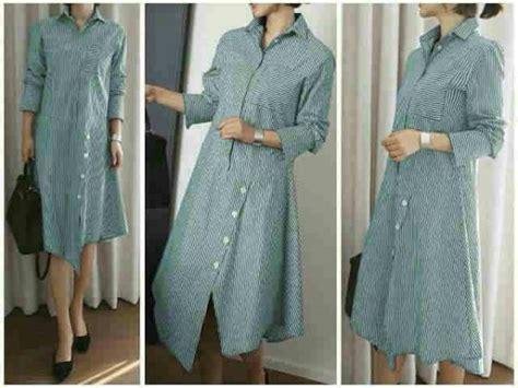Blouse Atasan Katun Stripe Lengan Panjang busana wanita martin blouse model baju kerja terbaru