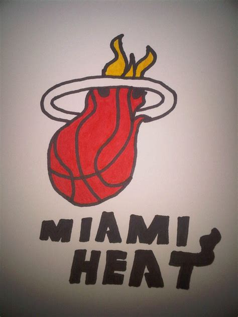 how to draw the heat logo how to draw the miami heat logo