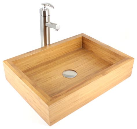 Bamboo Kitchen Sink Irenic Bamboo Countertop Bathroom Lavatory Vessel Sink Modern Bathroom Sinks By Emodern