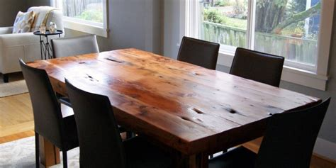 How To Refinish A Dining Room Table by Reclaimed Wood Dining Table Great Home Furniture By