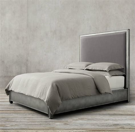 restoration hardware upholstered bed high end beds for a long winter s nap