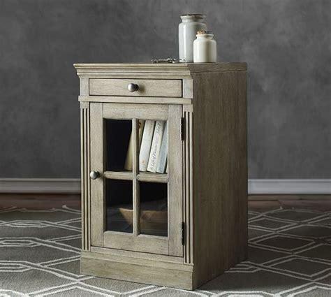 Single Glass Door Cabinet Livingston Single Glass Door Cabinet Pottery Barn