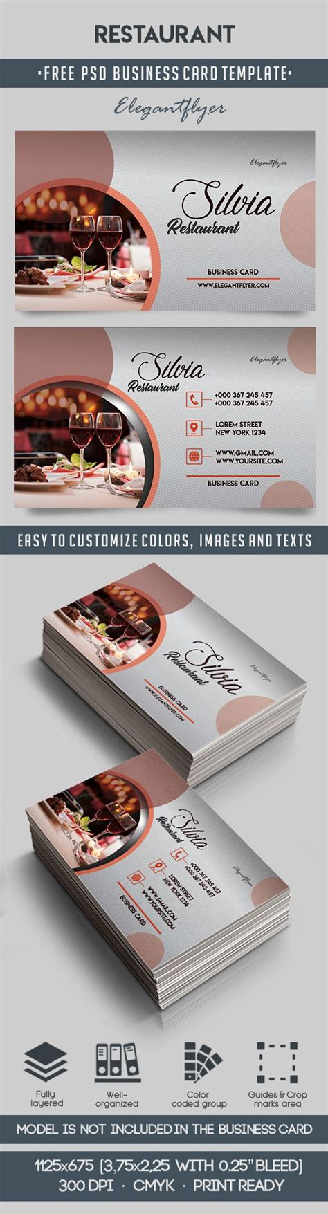 restaurant business cards templates free restaurant free business card templates psd by
