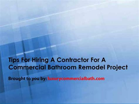 ppt tips for hiring a contractor for a commercial
