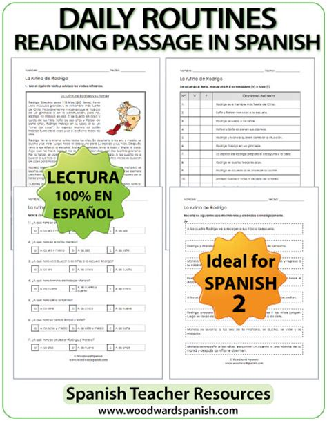 reading comprehension test in spanish spanish reading passages with multiple choice questions