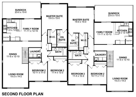 side by side duplex house plans spacious side by side duplex house plan hunters