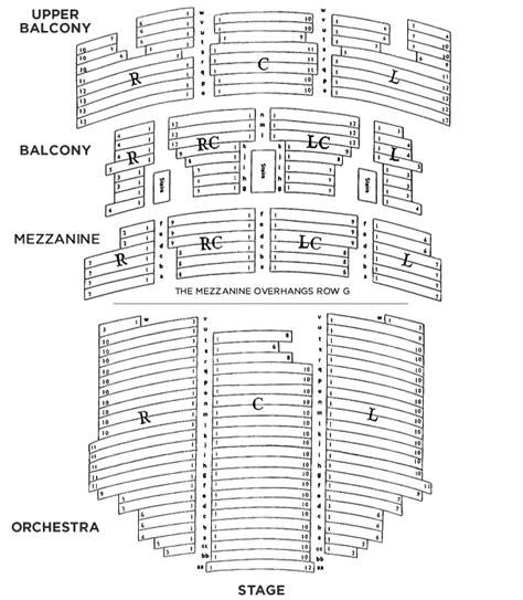 seating chart paramount theatre austin