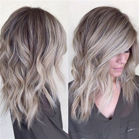 blonde hair with silver highlights grayish blonde hair hairstyles pinterest blondes