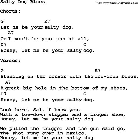 salty song top 1000 folk and time songs collection salty blues lyrics with chords and pdf