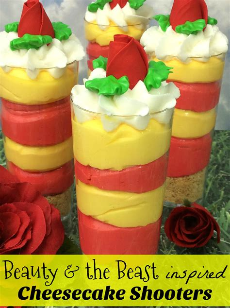 beauty and the beast inspired recipes crafts with beauty and the beast inspired cheesecake shooters recipe