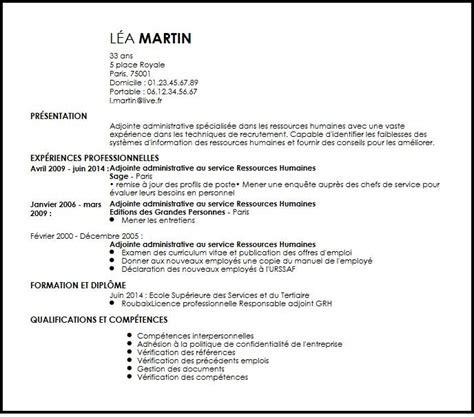 Mod Le Lettre De Pr Sentation Adjointe Administrative Cv Adjointe Administrative Au Service Ressources Humaines Exemple Cv Adjointe Administrative