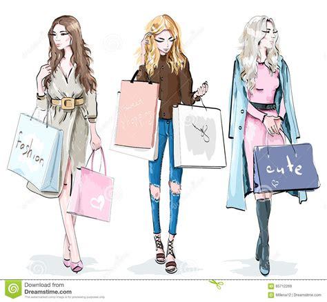 Set Mainan Shopping set of beautiful with shopping bags fashion
