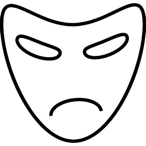 Theatre Mask Outline by Drama Mask Vectors Photos And Psd Files Free