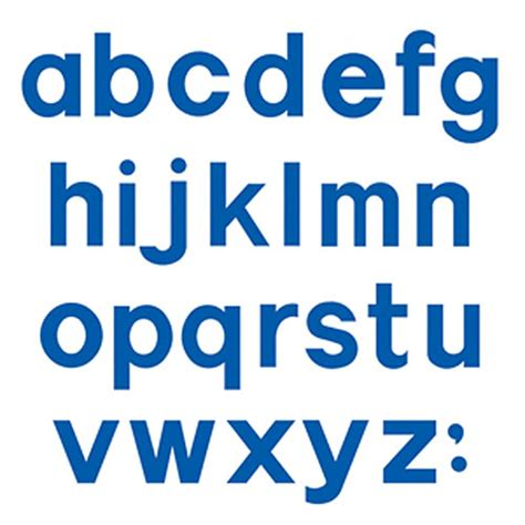 Floorplanner block lowercase letters 4 inch
