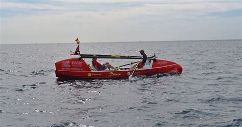 pedal boat atlantic crossing brit adventurer crossing atlantic on pedalo dramatically