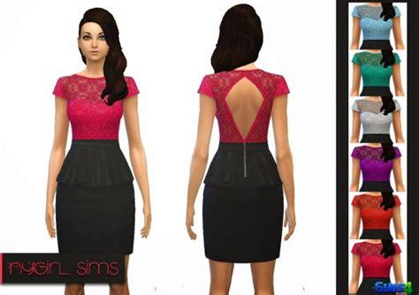 Dress Mini Bodycon Tile Peplum 18810 ny sims floral lace peplum dress sims 4 downloads