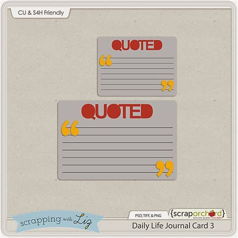 free journal card templates scrapping with liz daily week 3 free journal card