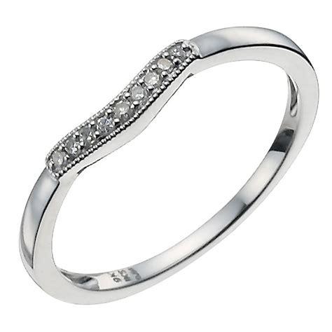 9ct white gold shaped ring ernest jones
