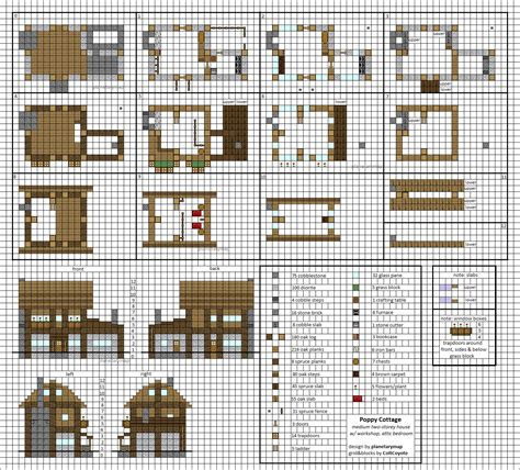 minecraft houses plans poppy cottage medium minecraft house blueprints by planetarymap on deviantart