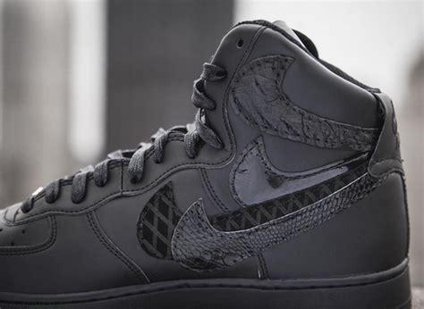 Nike Background Check All Black Nike Air 1 Misplaced Checks