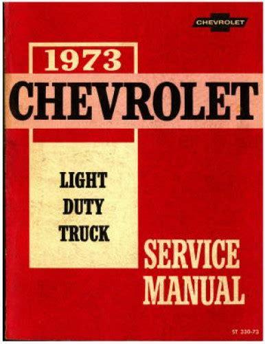 light duty diesel mechanic used 1973 chevrolet light duty truck service manual