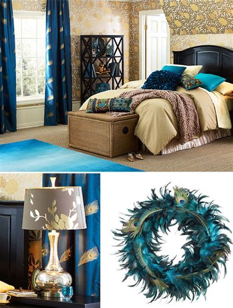 images  peacock room ideas  pinterest peacock blue paint peacocks  peacock