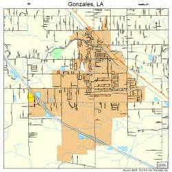 gonzales louisiana map 2229850