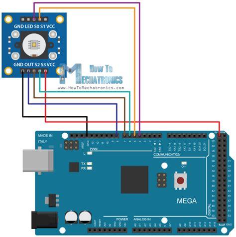 photodiode library proteus arduino color sensing tutorial tsc230 tsc3200 color sensor circuit schematics arduino parts