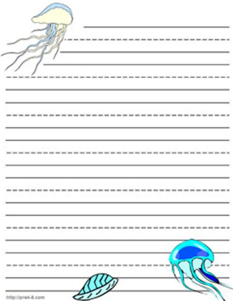printable animal lined paper 8 best images of ocean writing paper printable printable