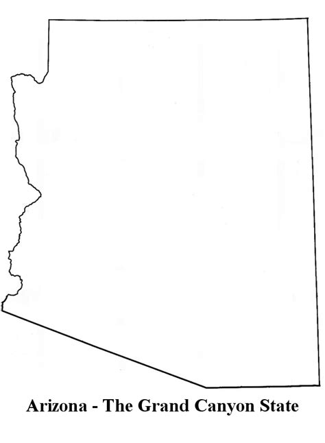 blank map of arizona arizona state outline clipart