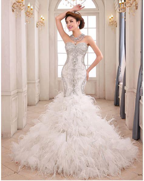google wedding mermaid wedding dresses with feathers google search