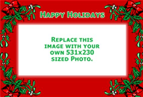 Happy Holidays Photo Card Template Free by Free Greeting Card Website Templates