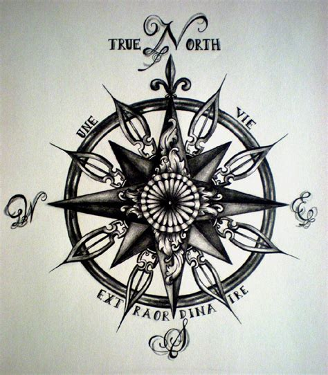 Compass Tattoo True North | compass tattoos designs ideas and meaning tattoos for you