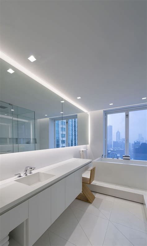 modern bathroom lighting for a more inviting bathroom decohoms a lighting idea for contempporary bathrooms modern led lighting for the bathroom