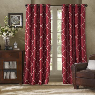 red bathroom window curtains buy bombay 226 162 garrison 95 inch grommet window curtain