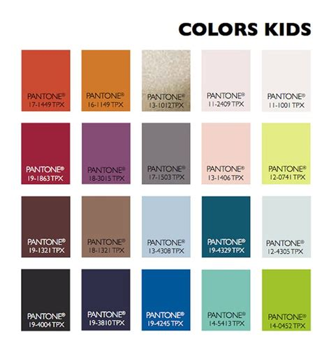 trend color color usage kids fall winter 2015 2016 pinterest