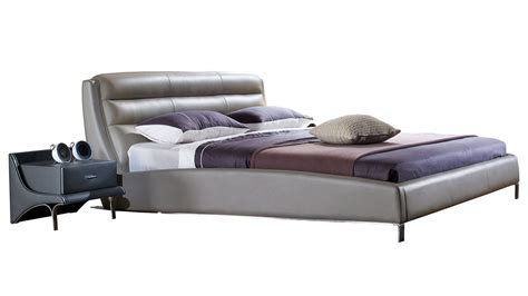 grey leather bed gray platform bed wholesale interiors baxton studio
