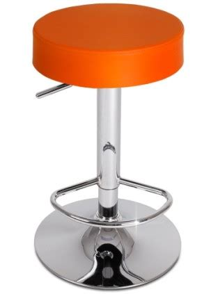 Detox Orange Stool by Cheap Breakfast Bar Stools In Black And Chrome Metal Styles