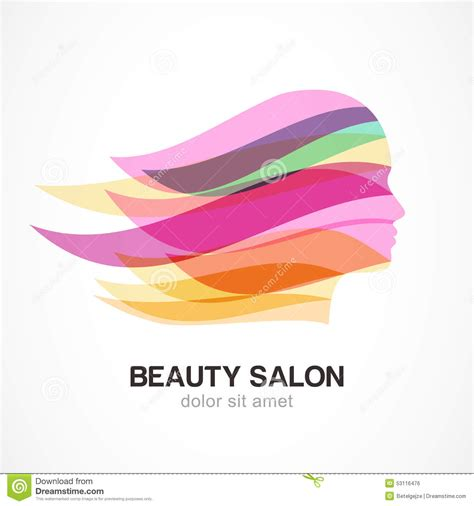 beauty layout vector beautiful girl silhouette with colorful streaming hair