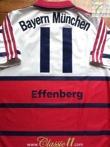 bayern münchen t shirt 1998 1998 99 bayern munich away shirt effenberg 11 s fc