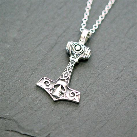 thor hammer necklace sterling silver thor s hammer