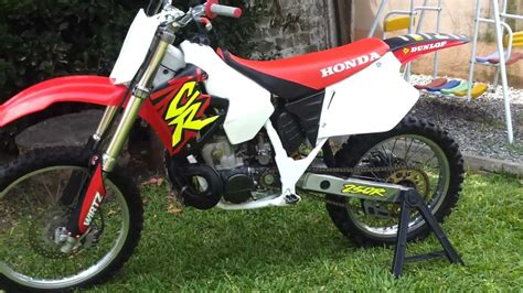 cr fir honda cr 250 arranque