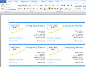 microsoft word business card how to make business cards with microsoft word 187 software