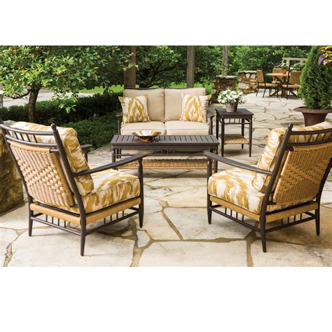 Country Patio Furniture Lloyd Flanders Low Country 5 Wicker Patio Set Lf Lowcountry Set7