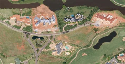 Ranch Style House cluster of massive mansions in oklahoma city ok homes