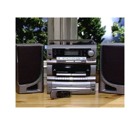 cd cassette stereo shelf system teac am fm 3 cd cassette shelf system w turntable qvc