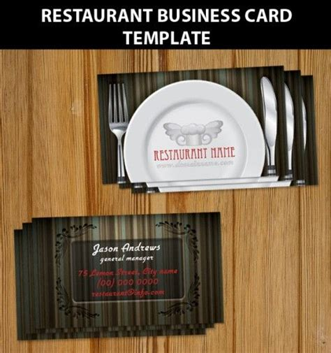Restaurant Business Card Template by Restaurant Business Card Template Digital Takeaway