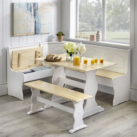 padstow  piece solid wood breakfast nook dining set