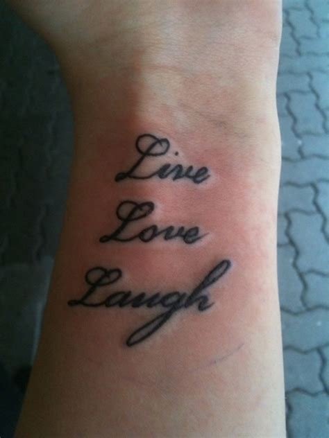 live tattoo 16 adorable live laugh wrist tattoos